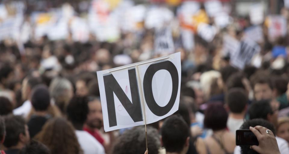 Marsz zwolenników zmiany konstytucji w Kielcach