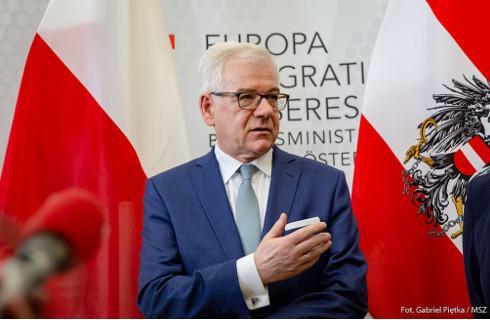Szef MSZ liczy się z wiązaniem funduszy UE z praworządnością