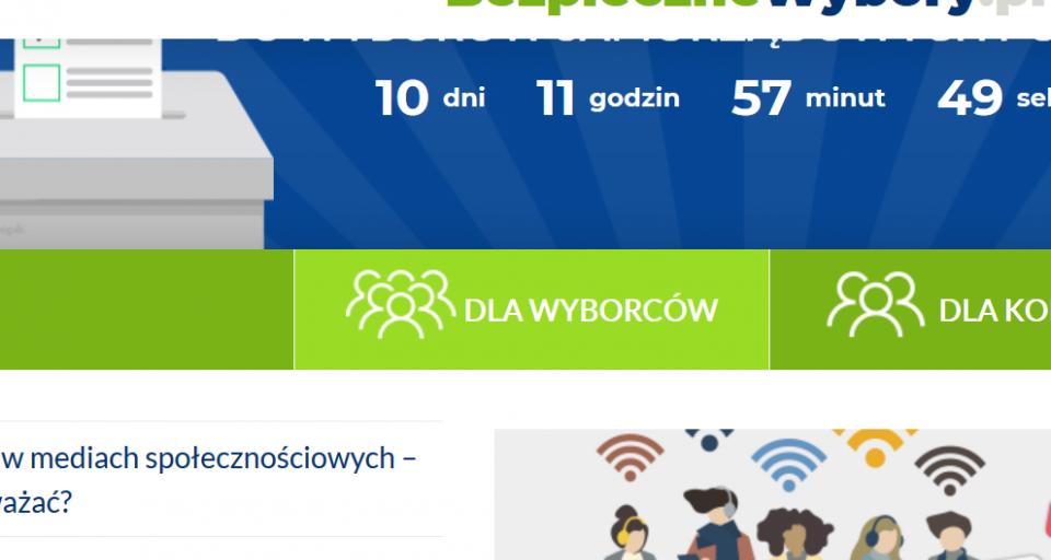 Powstał portal edukujący o nadużyciach w internecie w okresie przedwyborczym