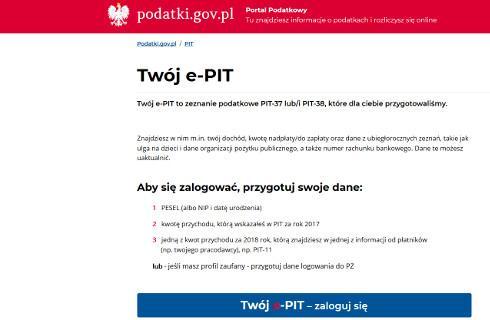 Twój e-PIT już dostępny