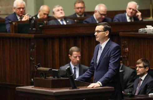 Rząd Morawieckiego z poparciem Sejmu