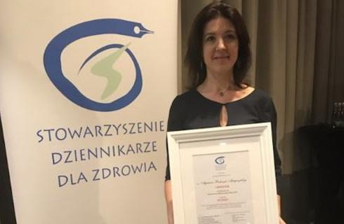 Nasza dziennikarka nagrodzona w konkursie na Dziennikarza Medycznego Roku