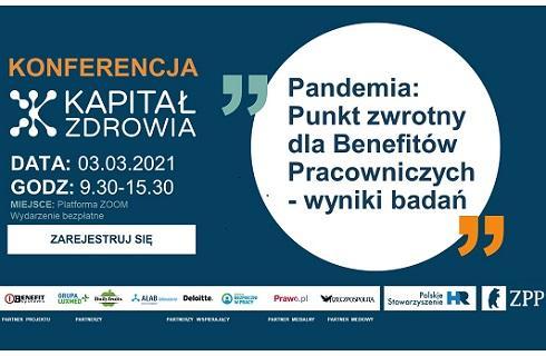 Pandemia jako punkt zwrotny dla benefitów pracowniczych - zaproszenie na bezpłatną konferencję